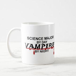 Vampiro importante de la ciencia por noche taza básica blanca