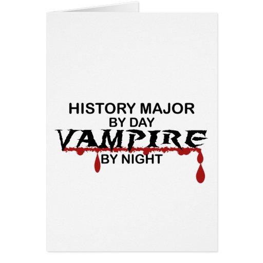 Vampiro importante de la historia por noche felicitación
