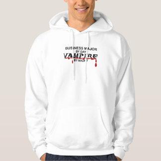 Vampiro importante del negocio por noche suéter con capucha