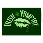 Vampiro irlandés tarjeton