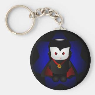 Vampiro lindo de Chibi - fondos oscuros Llavero Redondo Tipo Pin