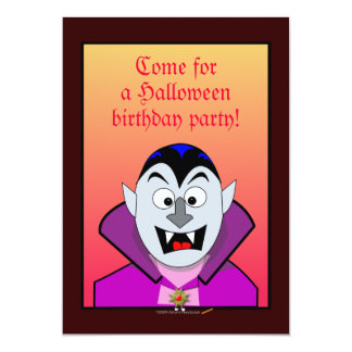 """Vampiro lindo de las invitaciones de la fiesta de invitación 5"""" x 7"""""""