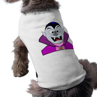 Vampiro lindo del dibujo animado de Halloween Prenda Mascota
