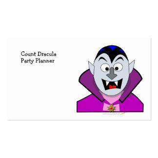 Vampiro lindo del dibujo animado de Halloween Tarjetas De Visita