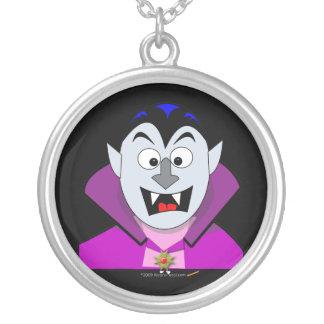 Vampiro lindo Hallowen del dibujo animado Colgante Redondo
