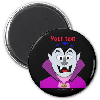 Vampiro lindo Hallowen del dibujo animado Imán Redondo 5 Cm