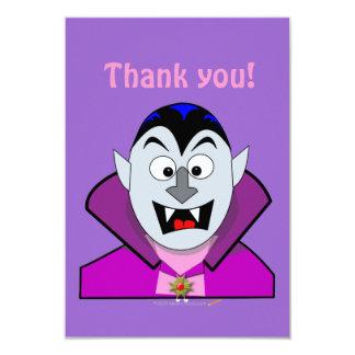 "Vampiro lindo Hallowen del dibujo animado Invitación 3.5"" X 5"""