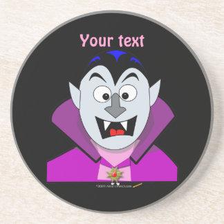 Vampiro lindo Hallowen del dibujo animado Posavasos Diseño