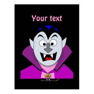 Vampiro lindo Hallowen del dibujo animado Tarjeta Postal