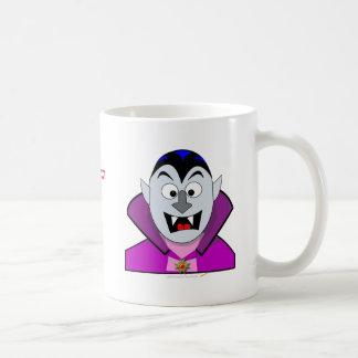 Vampiro lindo Hallowen del dibujo animado Taza