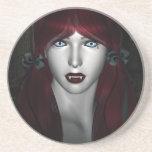 Vampiro Lolita 3D gótico Posavasos Diseño