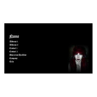 Vampiro Lolita 3D gótico Plantillas De Tarjetas Personales