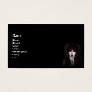 Vampiro Lolita 3D gótico Tarjeta De Negocios