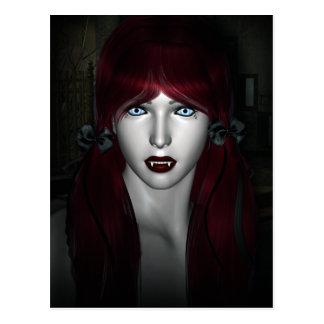 Vampiro Lolita 3D gótico Tarjetas Postales