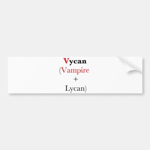 vampiro lycan vycan etiqueta de parachoque