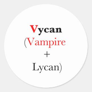 vampiro lycan vycan etiquetas redondas