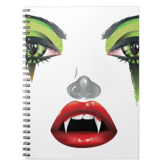 Vampiro Makeup2 Cuaderno