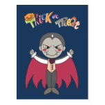 Vampiro - muchachos de Halloween Postal