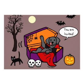 Vampiro negro del laboratorio de Halloween Invitacion Personalizada