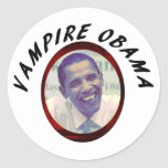 Vampiro Obama Etiqueta Redonda