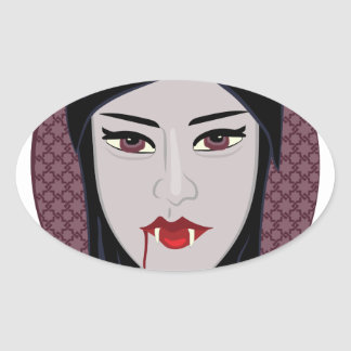 Vampiro Pegatina Ovalada
