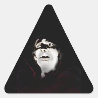 Vampiro Pegatina Triangular