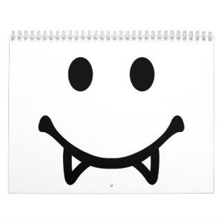 Vampiro sonriente calendarios