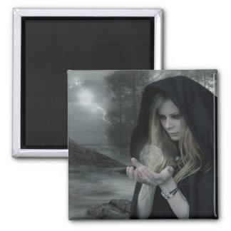 Vampiro y brujería imán cuadrado