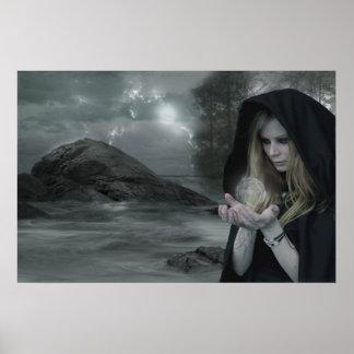 Vampiro y brujería póster