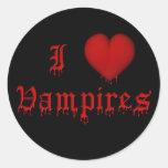 Vampiros del amor de la sangre I del goteo del KRW Pegatinas Redondas