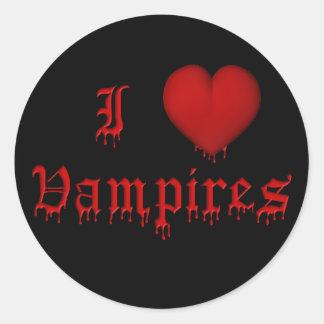 Vampiros del amor de la sangre I del goteo del KRW Pegatina Redonda