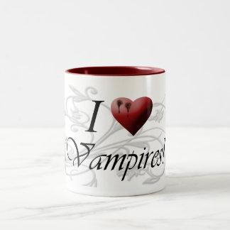 Vampiros I <3 Taza De Dos Tonos
