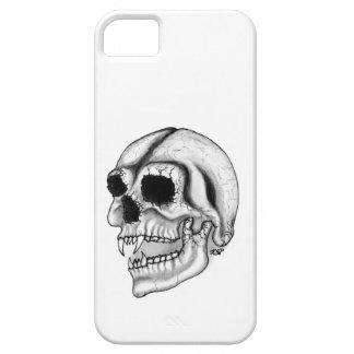 Vampiros skull black and diseño white iPhone 5 fundas