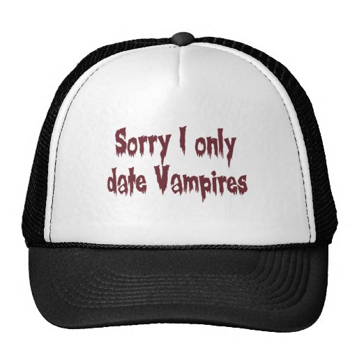Vampiros tristes de la fecha de I solamente Gorros Bordados