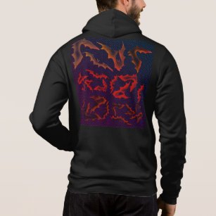 a3d899194d7d VampLife Ghostly Bats - Red City Night Hoodie