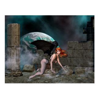 Vampress Redheaded 1 - fantasía postal del vampiro