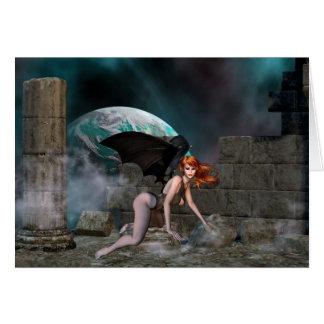 Vampress Redheaded - tarjeta de felicitación de la