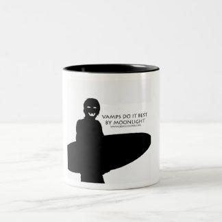 Vamps by Moonlight Two-Tone Coffee Mug