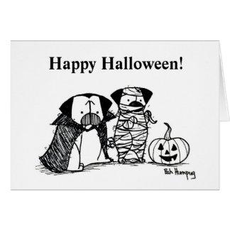 Vampug y tarjeta de Halloween del barro amasado de