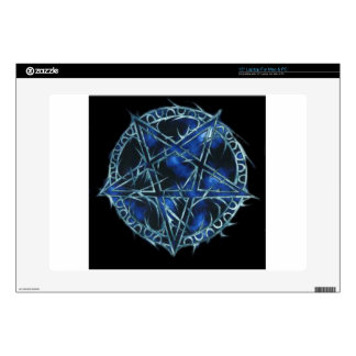 "Vampyric_Pentagram Decals For 15"" Laptops"