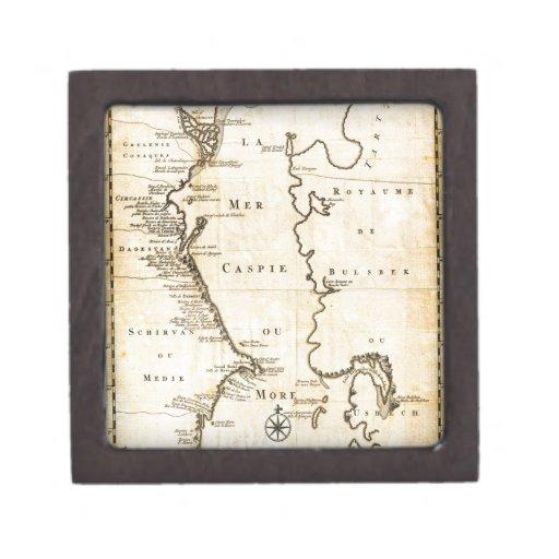 Van 1730 Verden Map del mar Caspio Geographi Cajas De Joyas De Calidad