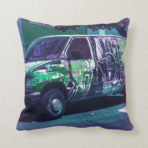 Van A roid - SanFrancisco Graffiti truck Pillow