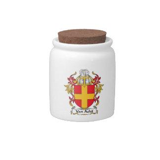 Van Aelst Family Crest Candy Jar