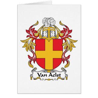 Van Aelst Family Crest Card