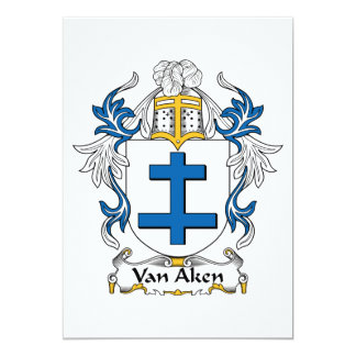 Van Aken Family Crest Card