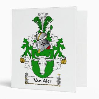 Van Aler Family Crest 3 Ring Binder