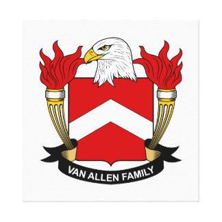 Van Allen Family Crest Canvas Print
