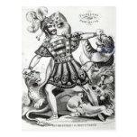 Van Amburgh the Brute Tamer, 1838 Postcard
