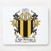Van Ameyde Family Crest Mousepad