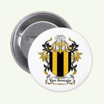 Van Ameyde Family Crest Button